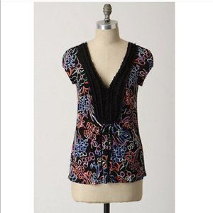 Ric Rac Anthropologie Outside The Lines Top Small